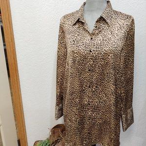Zara trf collection Flowy oversized blouse/dress M